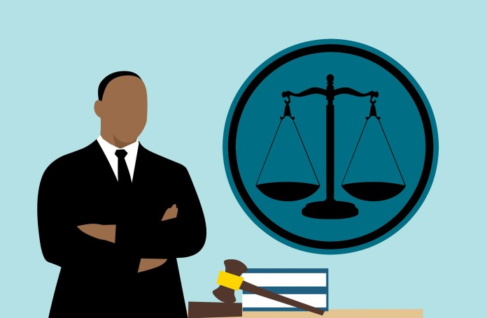 Advocaat Rechter Cartoon Man