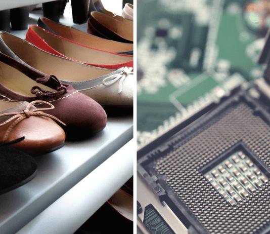Schoenen en computeronderdelen