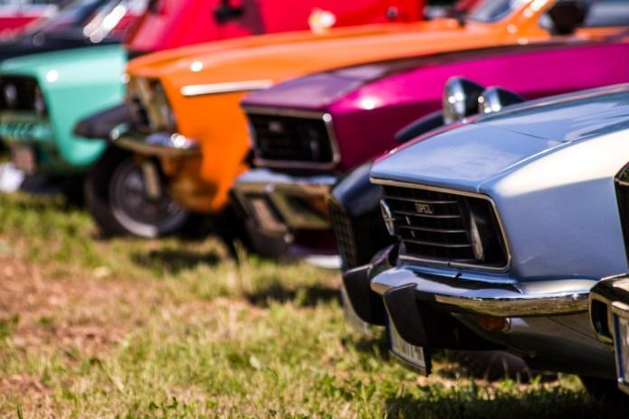 Auto's oldtimers autoshow grasveld