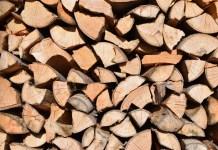 Brandhout houtstapel houtblokken