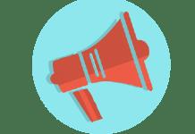 Icoon Luidspreker Propaganda Reclame Registreer Spreker Geluid Communicatie Lawaai
