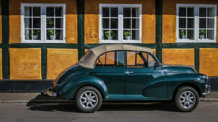 Oldtimer Opvouwbaar Dak Morris Minor 1000 Auto