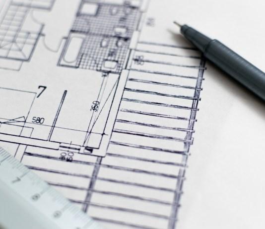 Architectuur Blauwdruk Plattegrond De Bouw Design Bouwwerkzaamheden