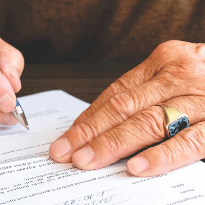 Beheerder van gebouwen Tekenen Akte Contract