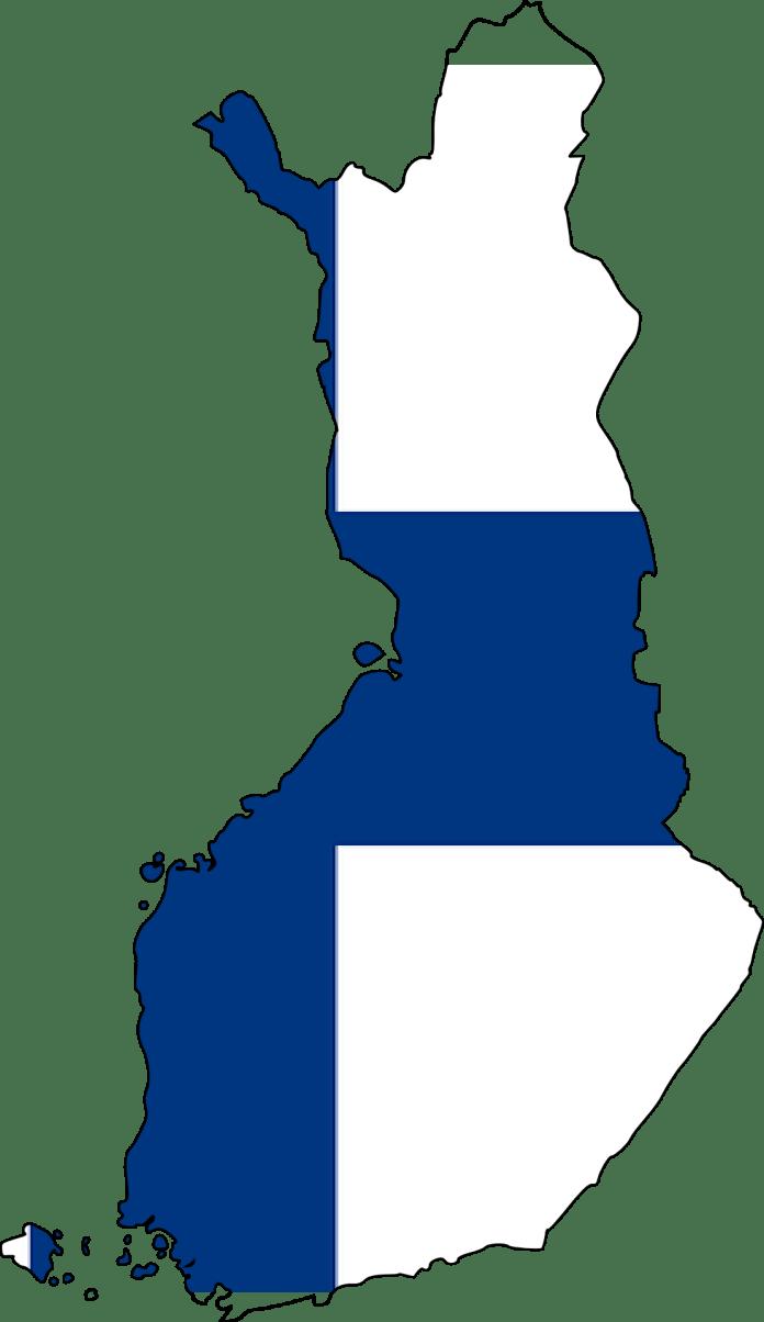 Finse vlag in de vorm van Finland