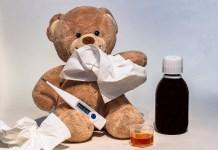Koude Ziek Koorts Thermometer Verhoogde Temperatuur Verpleging Verpleegster Zuster Verpleger Thuiszorg
