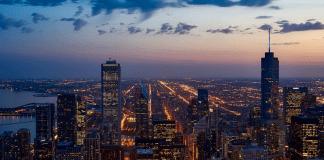 Chicago Bank Wolkenkrabbers Financieel Centrum
