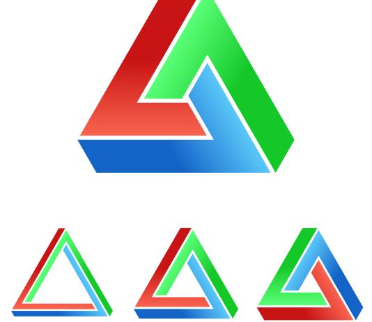 driehoek driehoeksverhouding driehoeksrelatie rood groen blauw