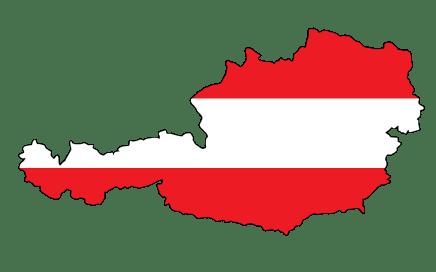 Oostenrijk kaart met vlag gemengd