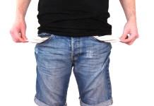 geen geld oninbaar armoede arme lege zakken