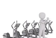 Fitnesscentrum Cardio Steptrainer Crosstrainer
