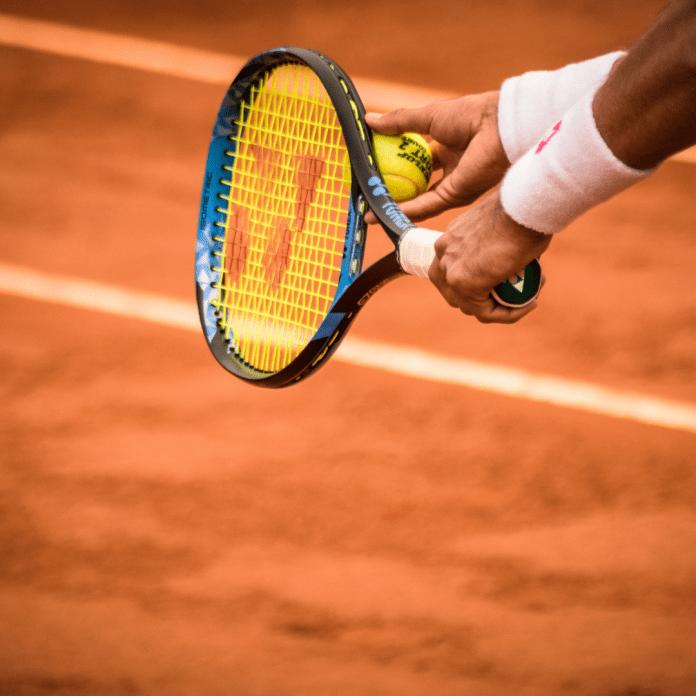 Tennis Tennisbaan tennisracket tennisbal zweetbandjes (1)
