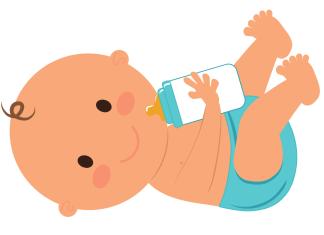 Baby flesje kraamzorg