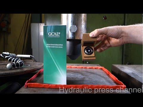 Can a hydraulic press crush Diamond?