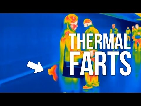 Thermal camera catches people secretly farting in public!