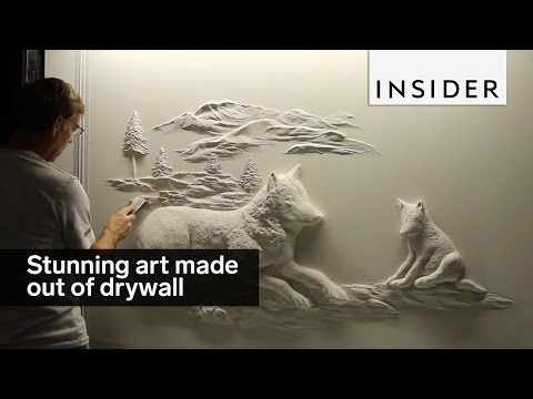 This Amazing Artists Creates Stunning Art Using a Wall