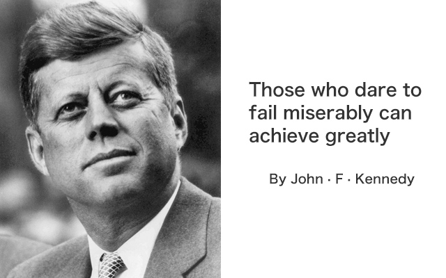 Quotes for success by John · F · Kennedy