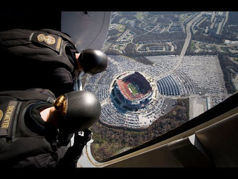WOW! Navy SEALS' Insane Parachute Jump into Football Stadium!