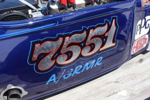 Close up of the 7551 Number (hopefully for luck)