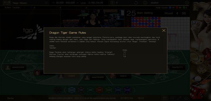 Aturan Bermain Naga Macan SunBet Live Casino