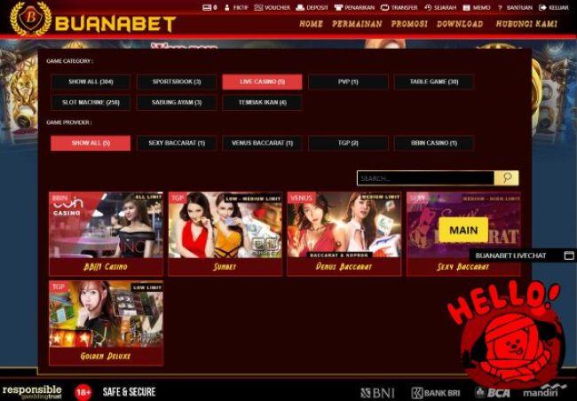 Pilihan provider layanan live casino sexy baccarat White Label