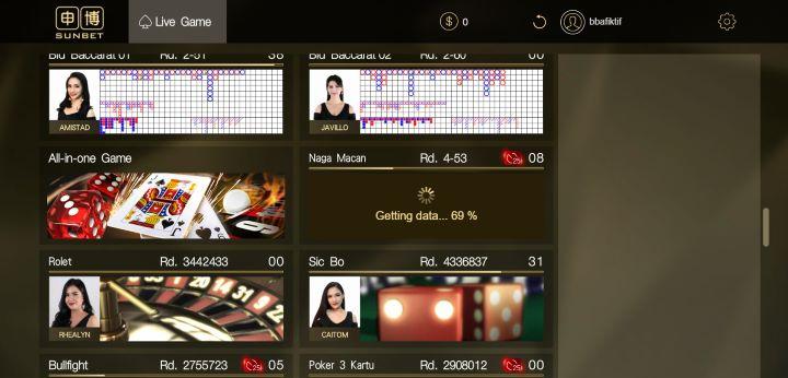 Tampilan Loading Naga Macan SunBet Live Casino