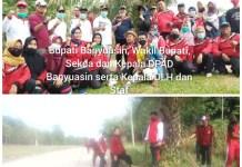 OPD Di Banyuasin Gotong Royong Bersihkan Lingkungan