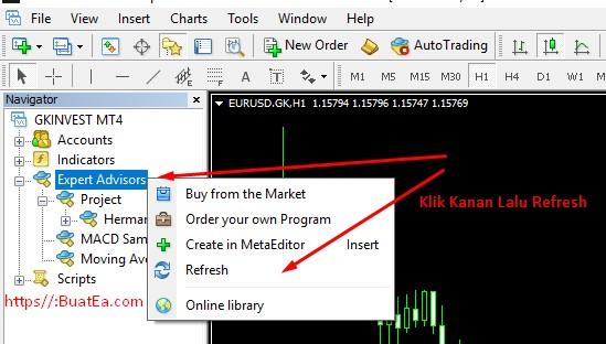 Cara Copy file EA ke dalam MT4