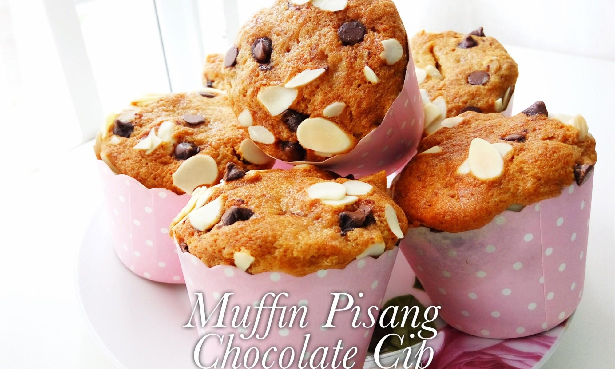 Muffin Pisang Chocolate Chip Mudah Dan Sedap Buat Orang Lapo
