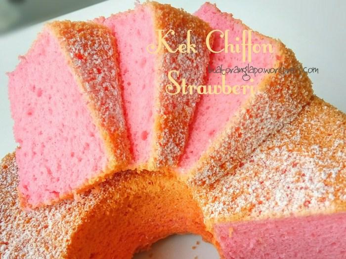 kek chiffon strawberi