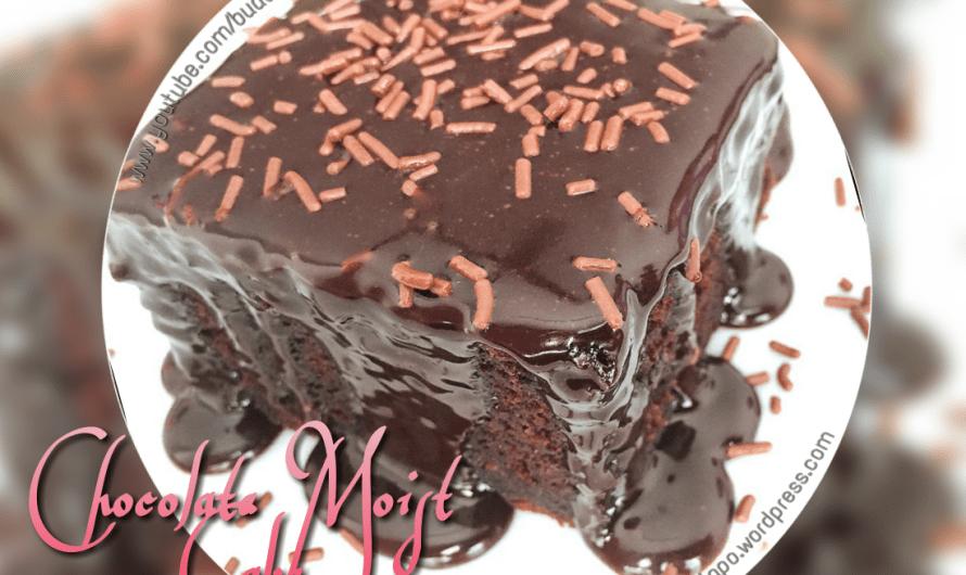 Kek Coklat Lembap Mudah (Easy Chocolate Moist Cake)