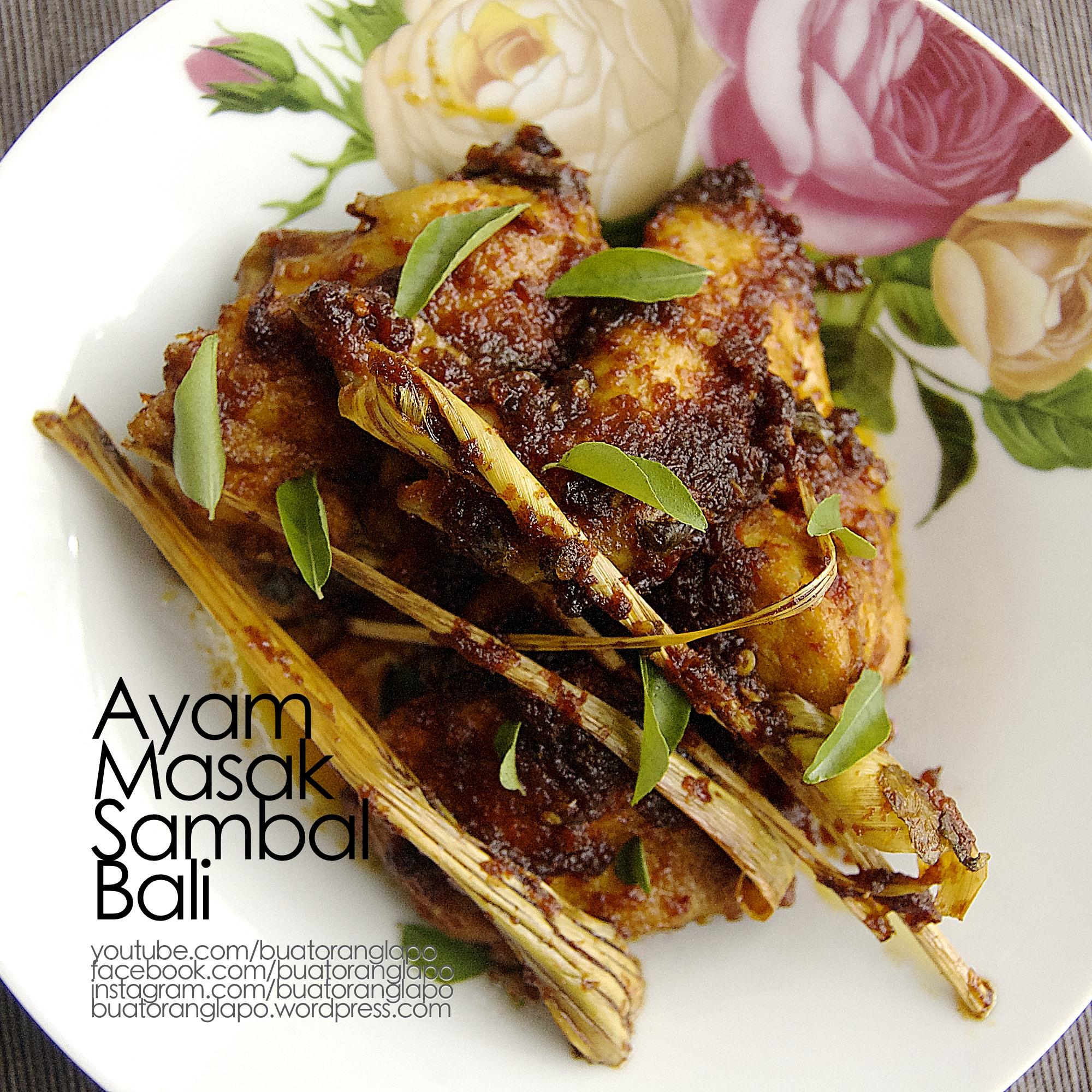 ayam masak sambal bali mudah  ringkas buat  lapo Resepi Ayam Masak Negro Enak dan Mudah