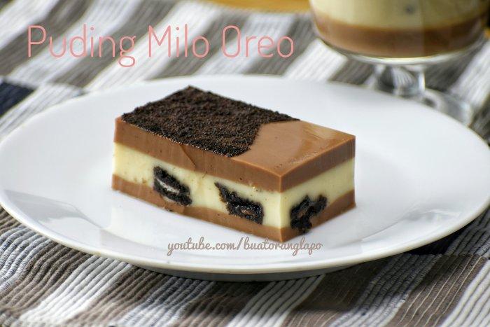 Puding Milo Oreo