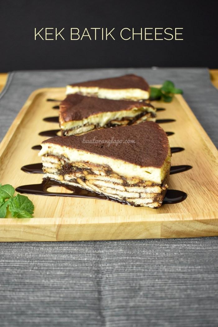 Kek Batik Biskut Marie Cheese