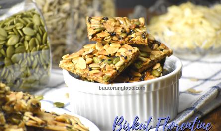 Biskut Florentine (Crunchy Caramel Almond Cookies)