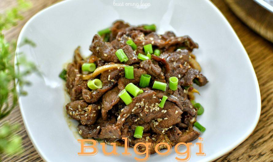 Bulgogi (Resepi Daging Korea BBQ)