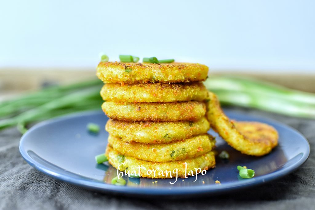 cheesy mashed potato pancake