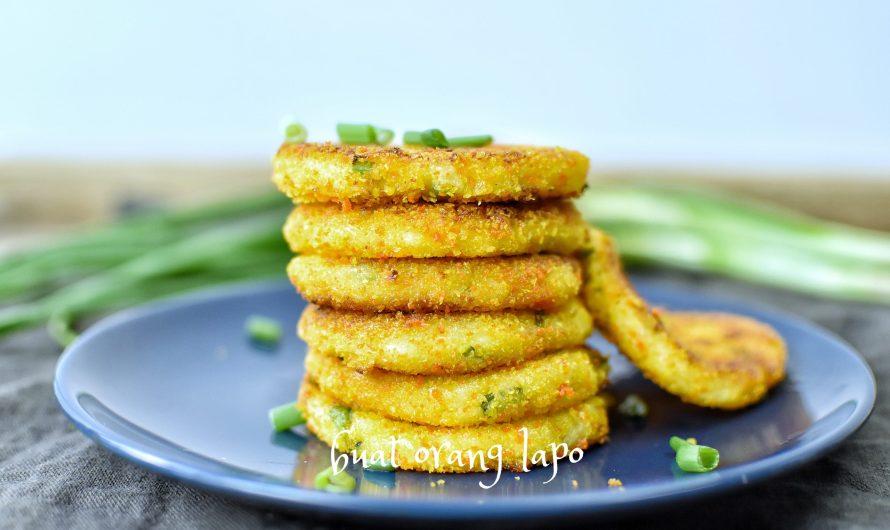Cheesy Mashed Potato Pancake Bekal Anak Ke Sekolah