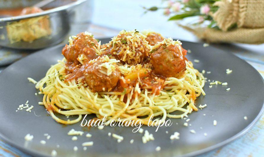 Meatball Spagheti Yang Mudah & Cepat Penyediannya