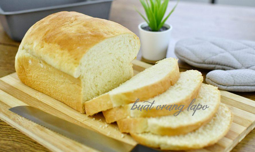 Roti Putih Lembut Dan Gebu (Guna Teknik Water Roux)