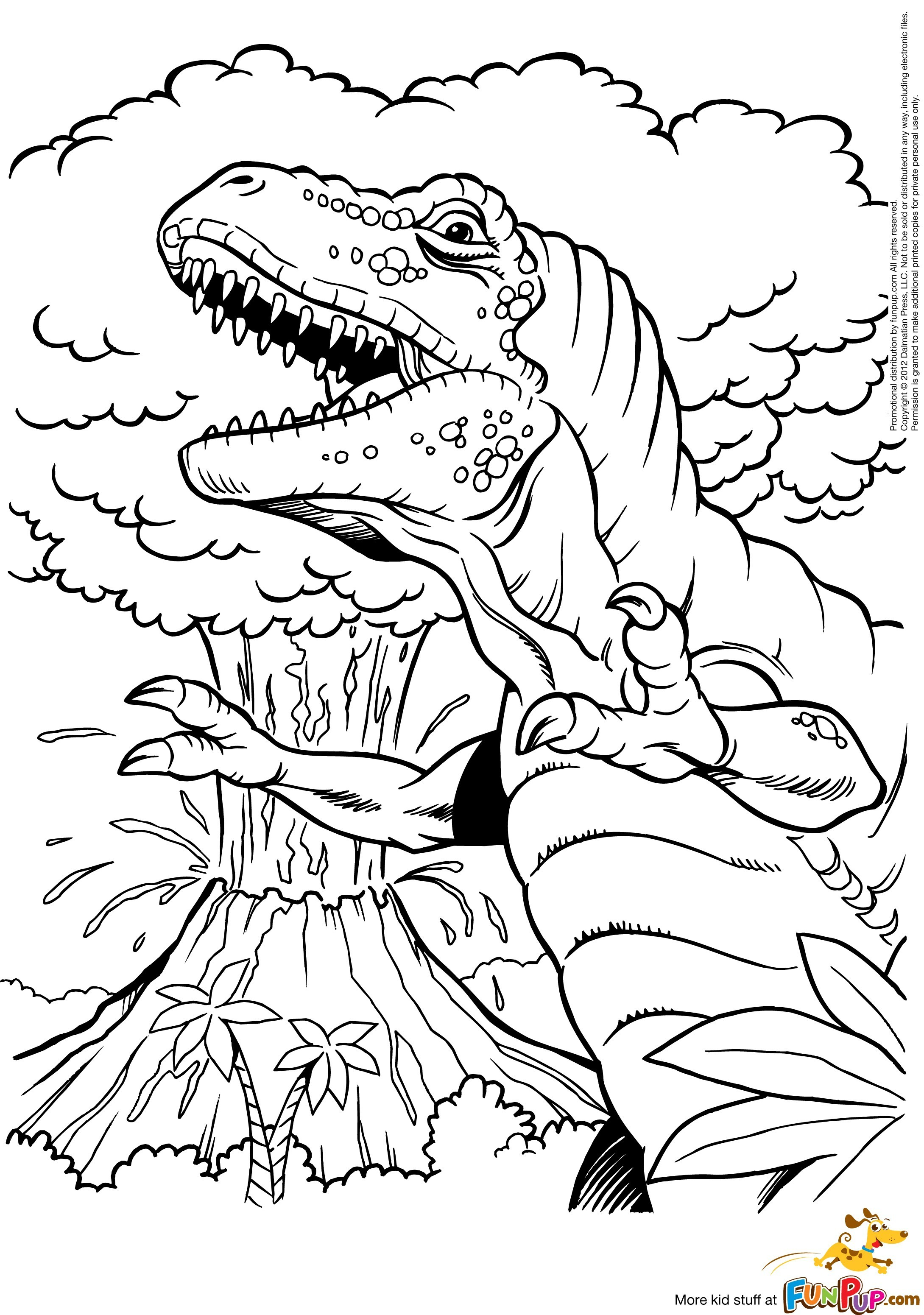 Minecraft Dinosaurs Coloring Pages