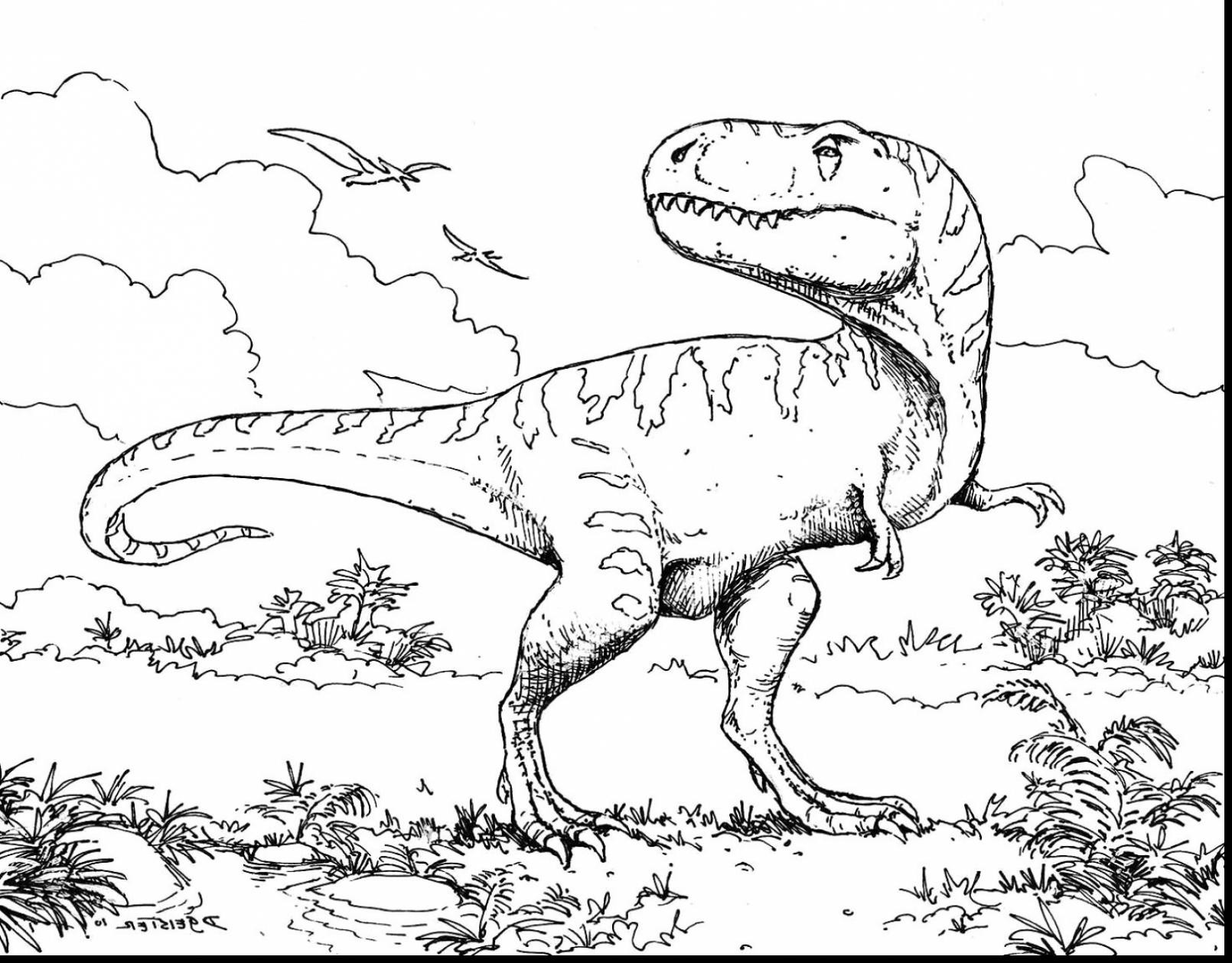 T Rex Coloring Printable