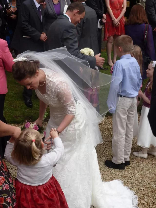 bride in lace