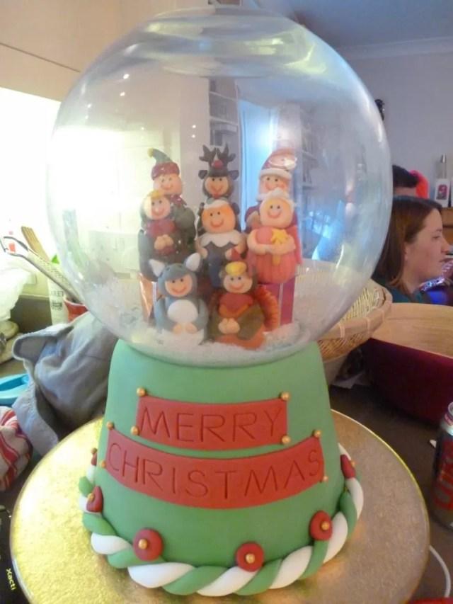 snowglobe cake