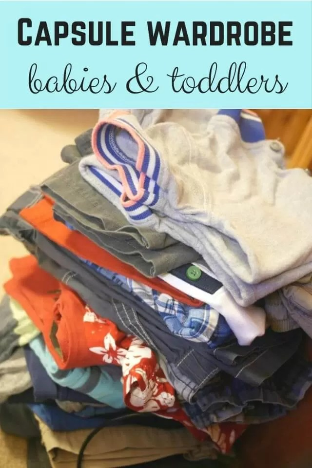 Capsule clothes collection ideas for babies and toddlers