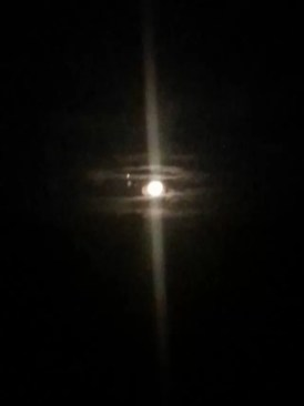 Moon by mobile phone camera - it didn't look like this in real life!