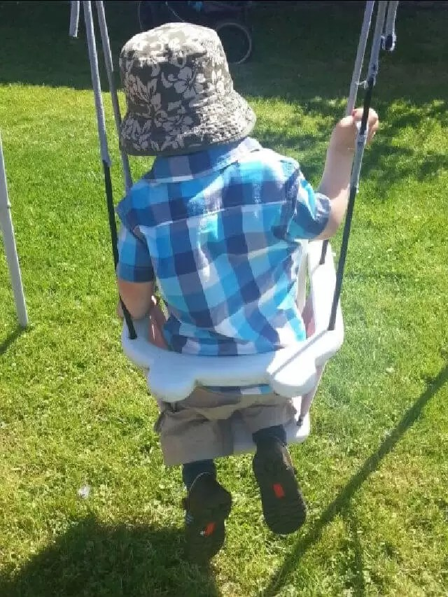 on a baby swing