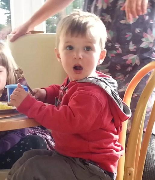 shocked toddler