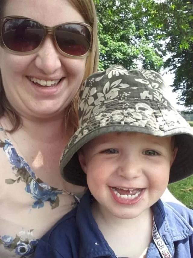 selfies in the park