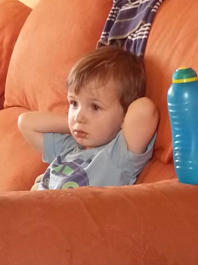 Relaxing toddler